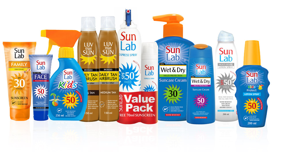 Sun Lab Range of sun care products